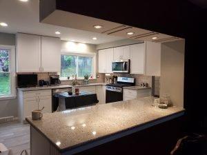 kitchen remodel job on haversham in hillsboro
